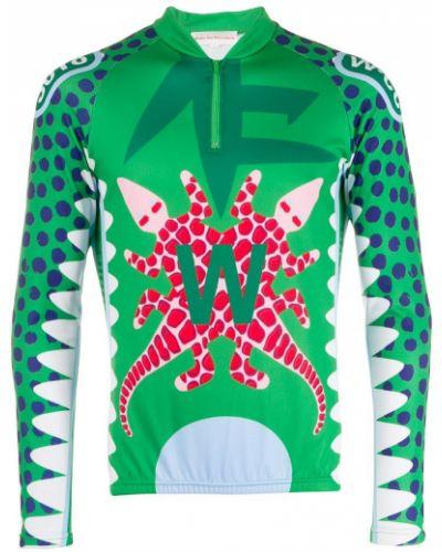 Спортивная футболка с воротником из крокодила Walter Van Beirendonck Pre-owned