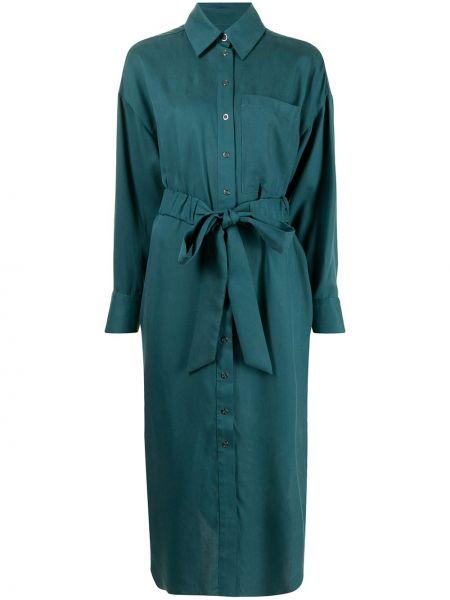 Зеленое платье макси с длинными рукавами Ginger & Smart