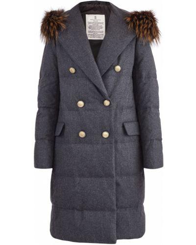 Пуховик длинный пальто с капюшоном с лацканами Brunello Cucinelli
