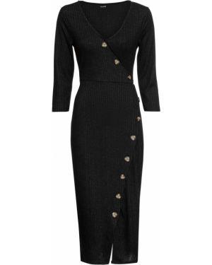 Платье с поясом с запахом на пуговицах Bonprix
