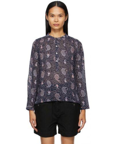 Сиреневая блузка с длинными рукавами с воротником Isabel Marant étoile