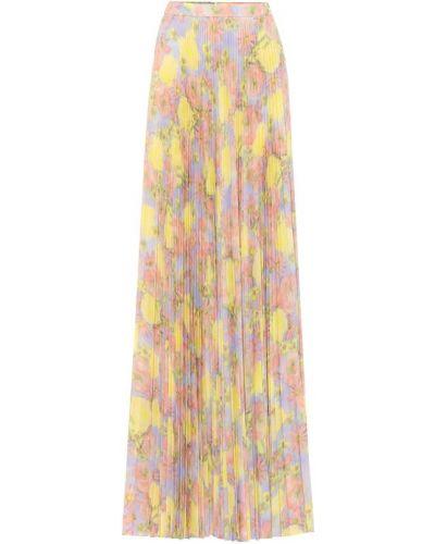 Плиссированная юбка миди макси Prada