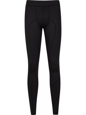 Czarne legginsy do biegania materiałowe Mountain Warehouse