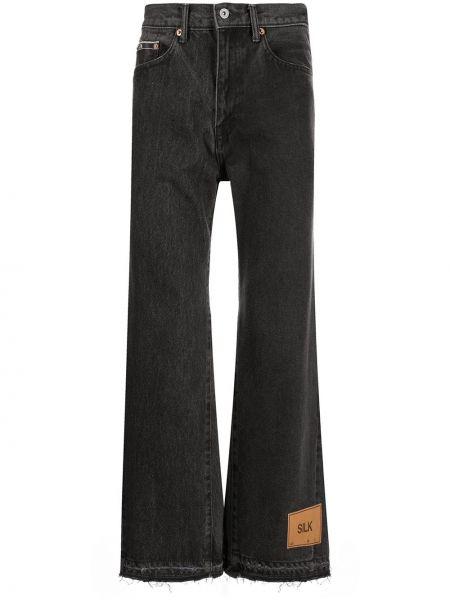 Czarne mom jeans bawełniane Doublet
