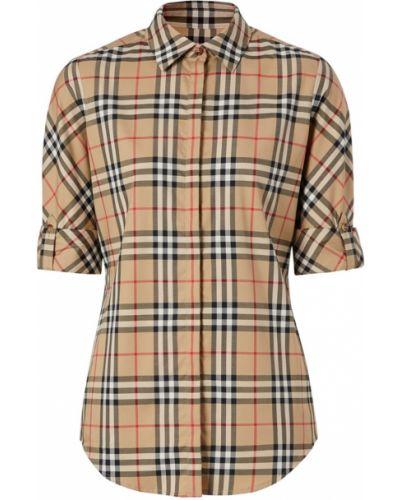 Рубашка в клетку - бежевая Burberry