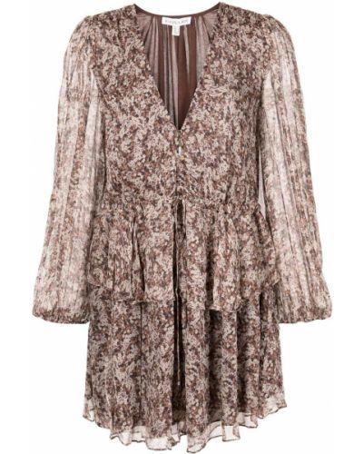 Коричневое платье с кулиской Shona Joy