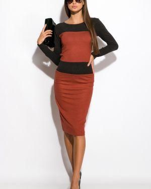 Приталенное платье для офиса с поясом Time Of Style