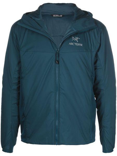 Синяя куртка с капюшоном на молнии Arcteryx