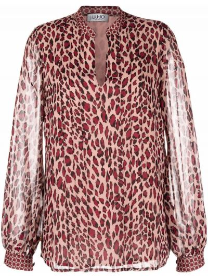 Bluzka asymetryczna - różowa Liu Jo