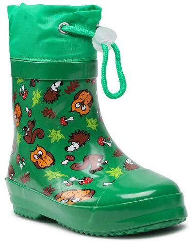 Zielone kozaki Playshoes