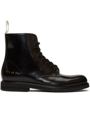 Кожаные ботинки с высоким голенищем треккинговые Common Projects