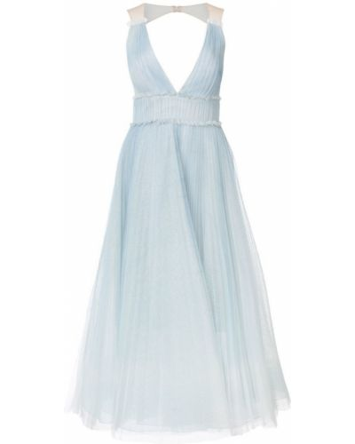 Вечернее платье облегающее со вставками Marchesa Notte