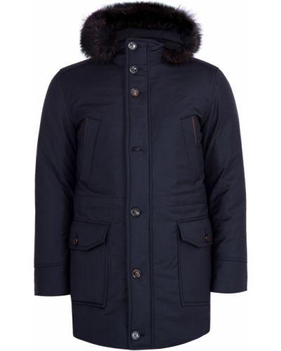 Утепленная куртка с капюшоном кашемировая Moorer