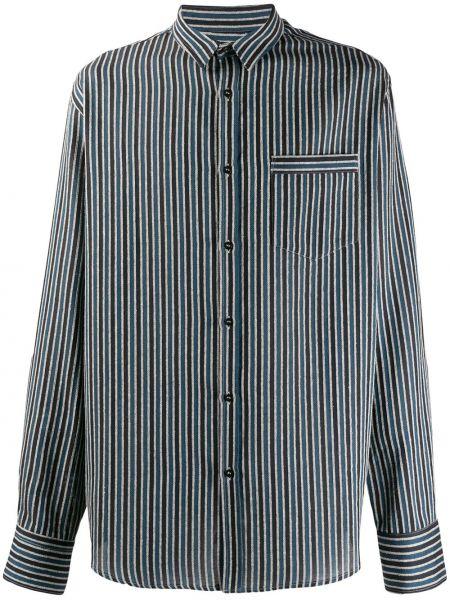 Klasyczna niebieska klasyczna koszula w paski Christian Pellizzari