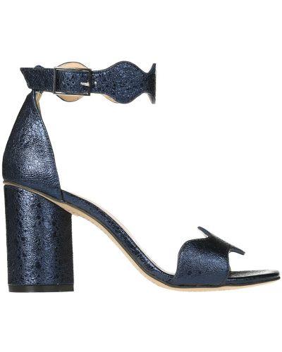 Кожаные босоножки - синие Bruno Premi