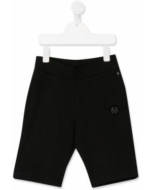 Черные шорты стрейч Philipp Plein