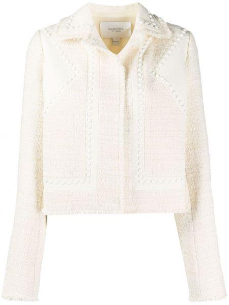 Шерстяная белая куртка с воротником Giambattista Valli