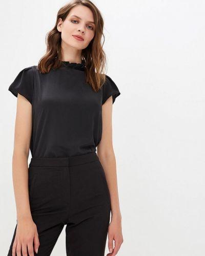 Черная блузка с коротким рукавом River Island