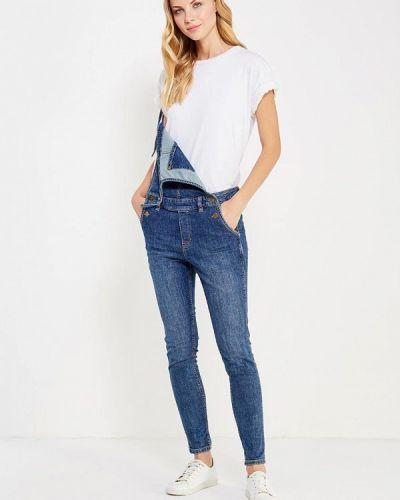 Синий джинсовый комбинезон Tom Tailor Denim