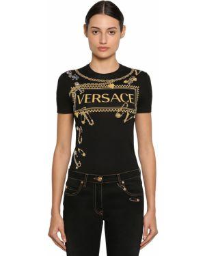 Рубашка с воротником-стойкой Versace