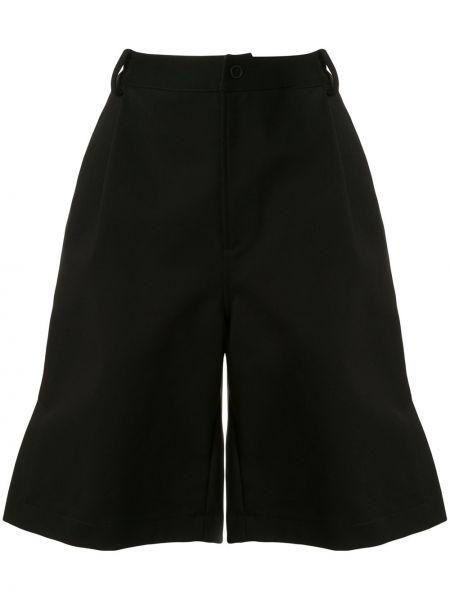 Однобортные черные шорты со складками Dion Lee
