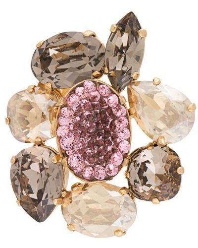 Розовая брошь Melissa Kandiyoti
