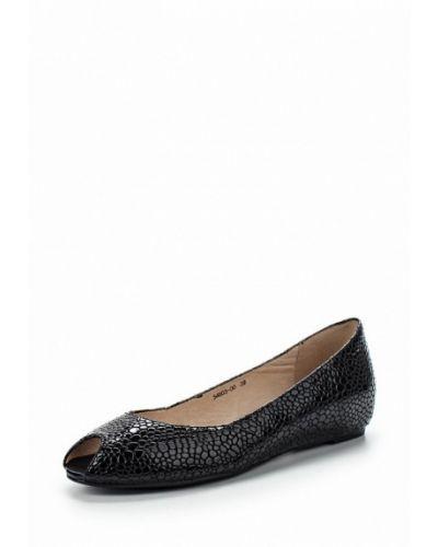 Туфли на каблуке черные кожаные Provocante