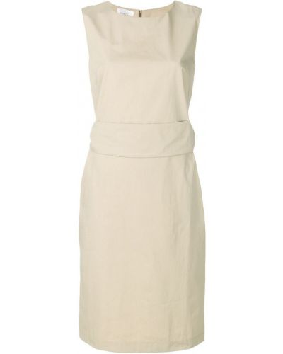 Бежевое платье с вырезом Marcha