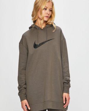 Sukienka mini w pasy z kapturem Nike Sportswear