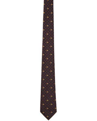 Желтый галстук Gucci
