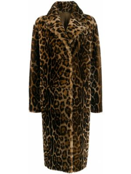 Пальто классическое леопардовый с принтом Liska