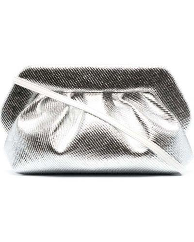С ремешком серебряная сумка на плечо из натуральной кожи Themoirè