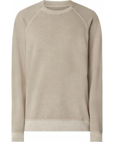Beżowa bluza bawełniana z raglanowymi rękawami Drykorn