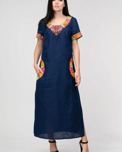 Повседневное платье весеннее синее Raslov