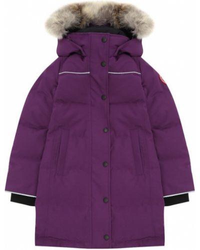 Фиолетовая парка с капюшоном Canada Goose