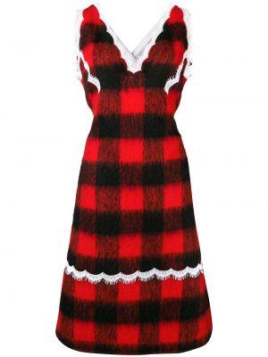 Платье с открытой спиной с воротником на молнии из мохера Calvin Klein 205w39nyc