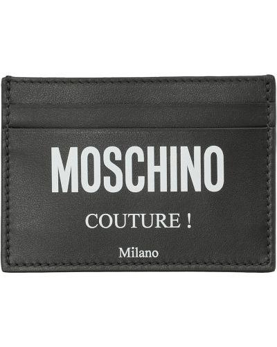 Czarny portfel Moschino