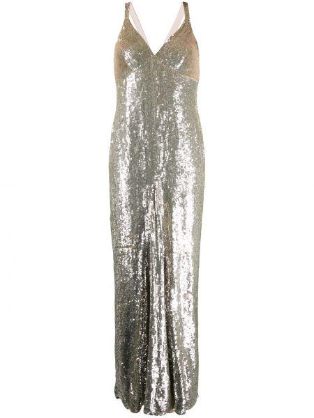 Платье макси с пайетками с V-образным вырезом Temperley London