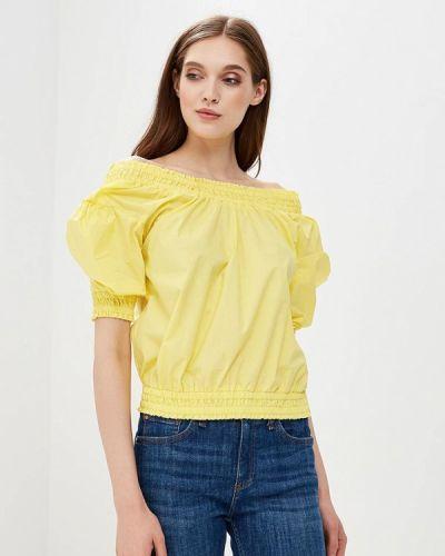 Блузка с открытыми плечами желтый весенний Piazza Italia