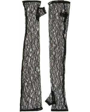 Czarne rękawiczki bez palców koronkowe sznurowane Kiki De Montparnasse