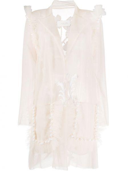 Пиджак прозрачный с вышивкой с потайной застежкой Loulou