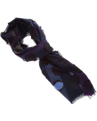 Niebieski szalik z jedwabiu Etro