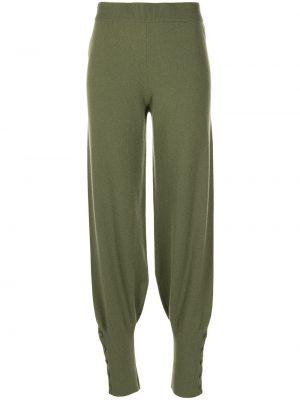 Zielone spodnie zapinane na guziki Altuzarra
