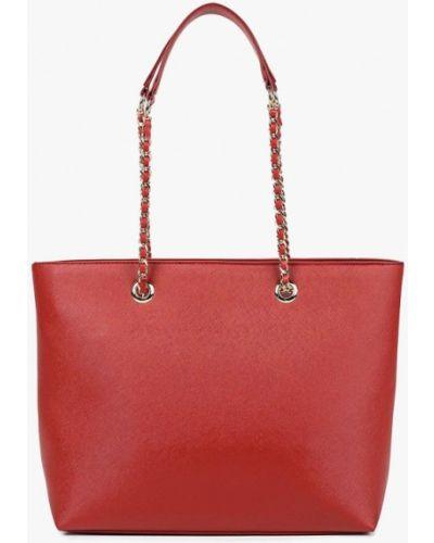 Кожаный сумка с ручками красная Dorothy Perkins
