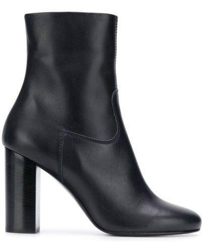 Сапоги на высоком каблуке черные на каблуке Michel Vivien