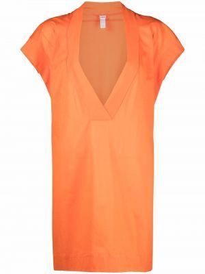 Pomarańczowa sukienka mini bawełniana Eres