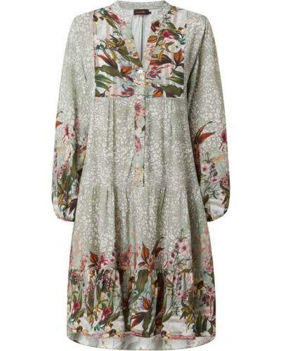 Sukienka rozkloszowana z falbanami - zielona Miss Goodlife