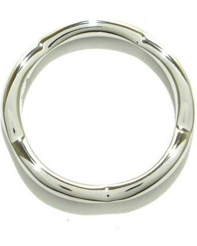 Szary pierścionek srebrny Chanel Vintage