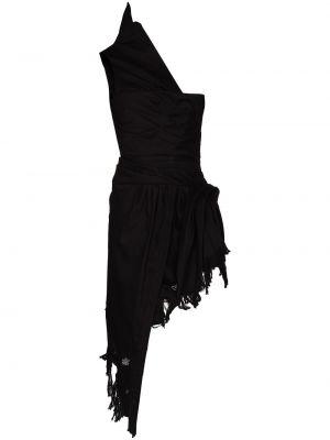 Sukienka asymetryczna - czarna Alexander Wang