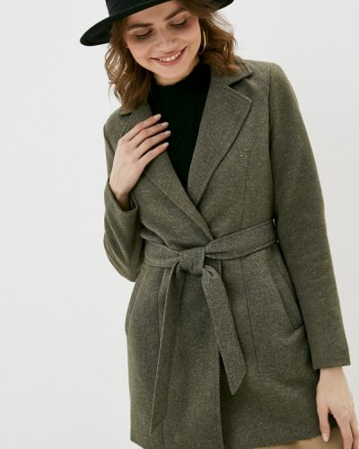 Зеленое пальто Only